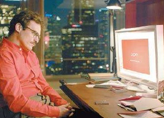 "In the movie ""Her,"" a man falls in love with an artificially intelligent operating system. Warner Bros. Pictures"
