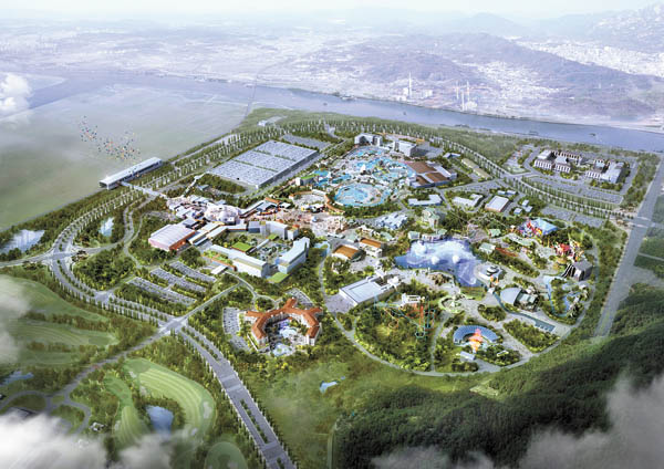 Computer image of the Universal Studios to be built in Songsan Green City in Hwaseong, Gyeonggi. [K-WATER]