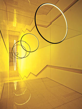 """Olafur Eliasson's site-specific installation """"Gravity Stairs"""" (2014) at the Leeum, Samsung Museum of Art. His solo show will start at the museum in October. [LEEUM]"""