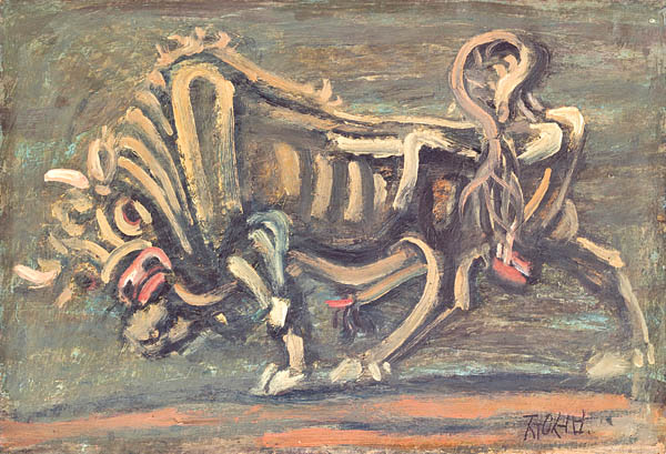 """""""Bull"""" (circa 1953) by Lee Jung-seob. The National Museum of Modern and Contemporary Art will hold a retrospective of the artist to celebrate his 100th birthday. [SEOUL MUSEUM]"""