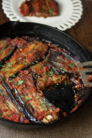 Steamed eggplants with Soy sauce