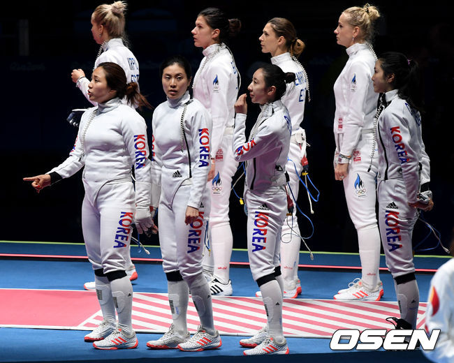 South Korean women's épée team (PHOTO by OSEN)
