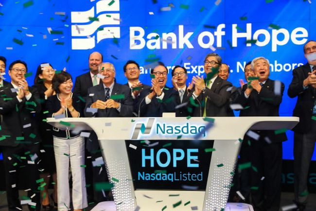 Bank of Hope directors are ringing the opening bell at the New York Stock Exchange on Aug. 24.