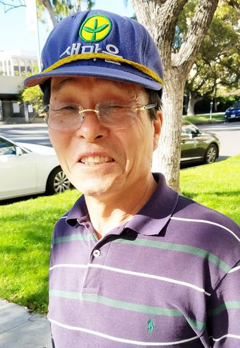 CAPTION: Eui-jin Lee, who donated $2,000 to a homeless man in Koreatown.