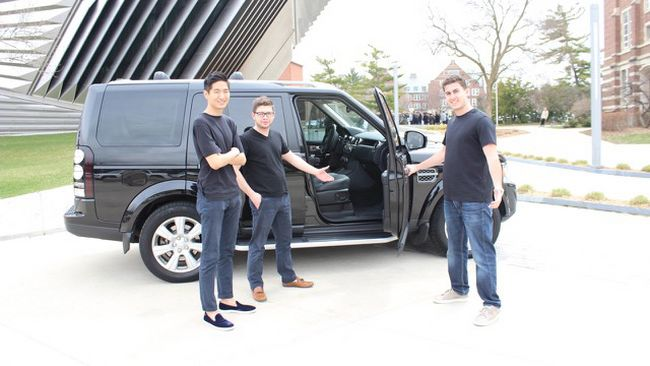 An app allows users to get picked up in their own cars. From the left; DriverOnTap chief technology officer Hyuk-joo Kwon, founder Jose Ramirez and marketing director Alex Riguardi.